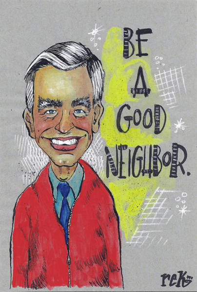 Painting - Be A Good Neighbor by Rick Baldwin