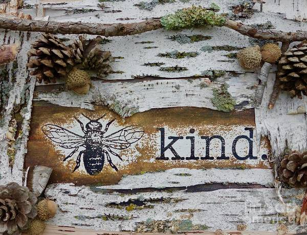 Mixed Media - Be Kind by Jacqueline Athmann