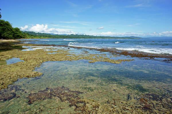 Snorkel Photograph - Beach And Cove In Manzanillo Costa Rica by Premium/uig