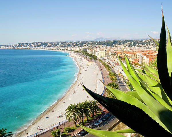 French Riviera Photograph - Beach And Promenade Danglais, Nice by John Harper