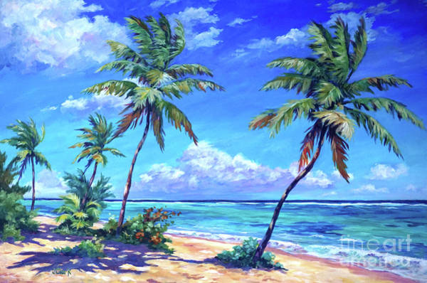 Brac Painting - Beach At Bodden Town by John Clark