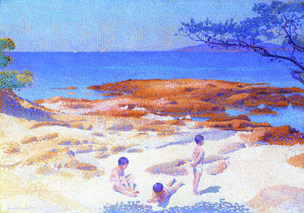 Wall Art - Painting - Beach At Cabasson - Digital Remastered Edition by Henri Edmond Cross