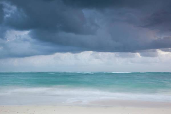Greater Antilles Photograph - Beach At Dawn, Bavaro, Punta Cana by Walter Bibikow