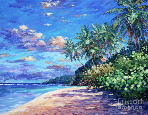 Trinidad Wall Art - Painting - Beach At Ortoire by John Clark
