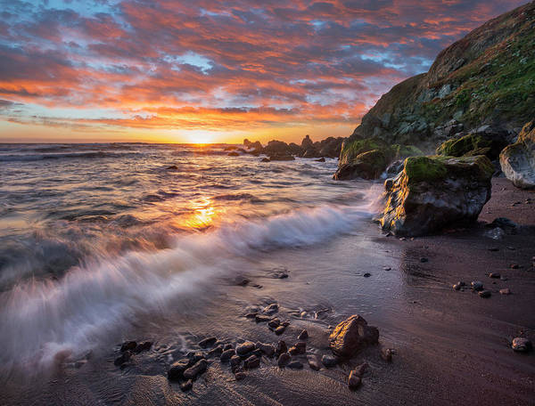 Photograph - Beach At Sunset, Sonoma Coast State by