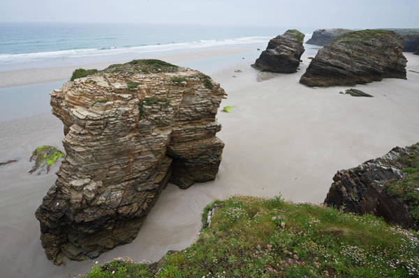 Galicia Photograph - Beach At The Cathedrals, Galicia by Franz Aberham
