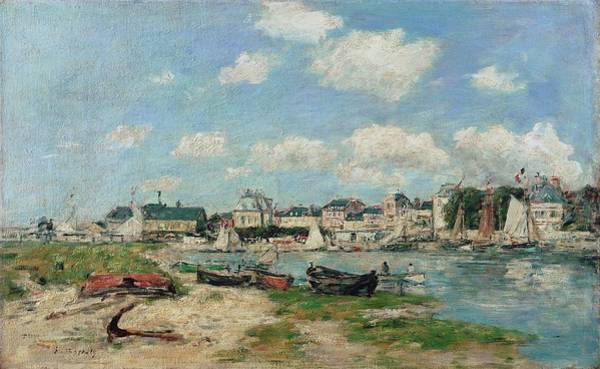 Balneario Wall Art - Painting - Beach At Trouville, France. Oil On Canvas. by Eugene Boudin -1824-1898-