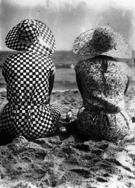 Sun Hat Photograph - Beach Back View by Fox Photos