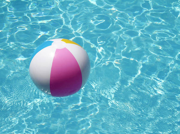 Pool Ball Photograph - Beach Ball In Swimming Pool by Tom And Steve