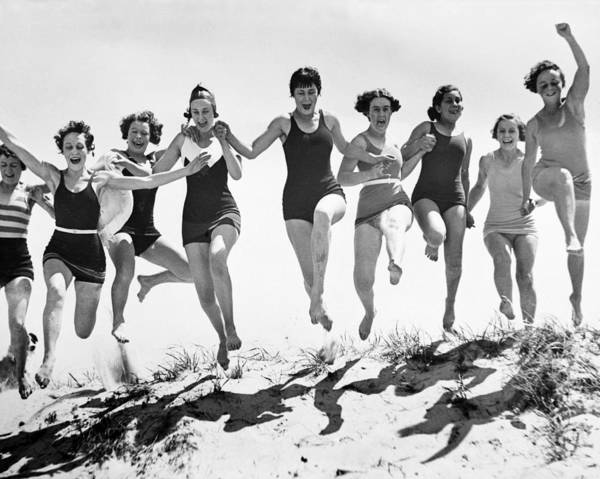 Carefree Photograph - Beach Belles by Fox Photos