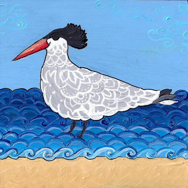 Painting - Beach Bird 3 by Caroline Sainis