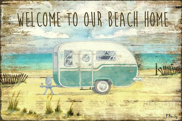 Wall Art - Painting - Beach Camping by Paul Brent