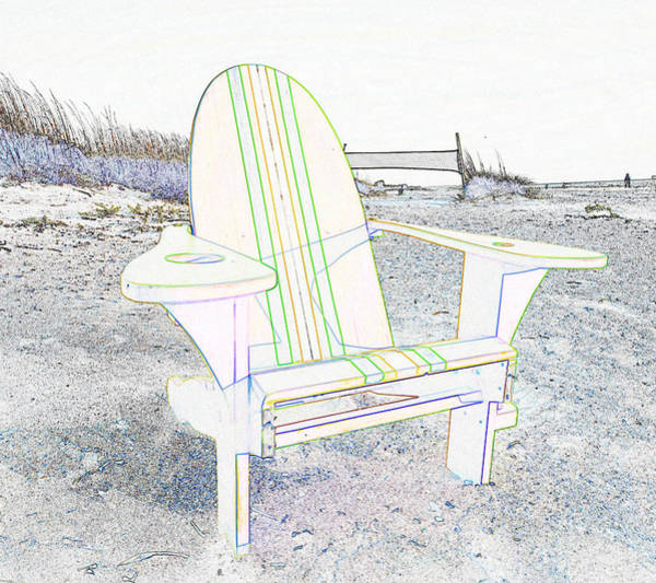 Volley Painting - Beach Chair Work L by David Lee Thompson