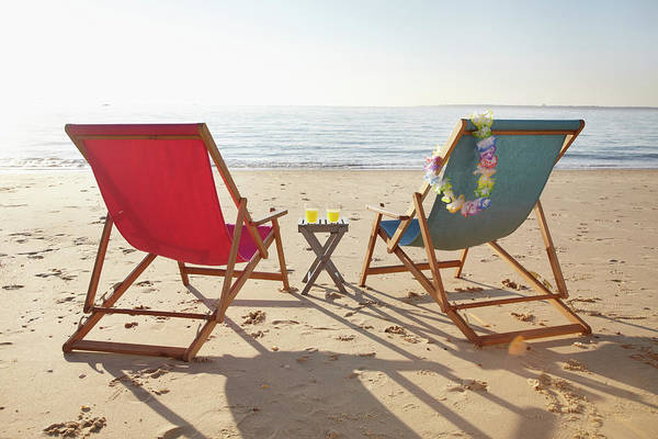 Viewpoint Photograph - Beach Chairs, Biscarrosse, Landes by Photo Division