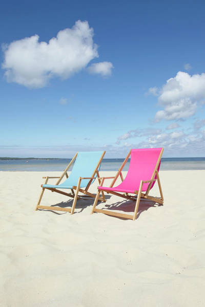 Viewpoint Photograph - Beach Chairs, Carcans, Gironde by Photo Division