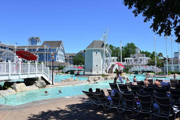 Wall Art - Photograph - Beach Club And Yacht Club Pools by David Lee Thompson