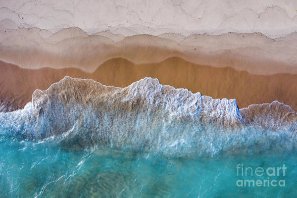 Download Photograph - Beach Colors Aerial by Twenty Two North Photography