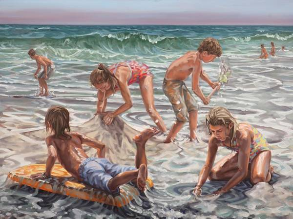 Painting - Beach Construction by Gary M Long