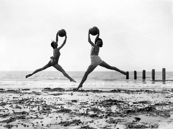Dancing Water Photograph - Beach Dancers by Fox Photos