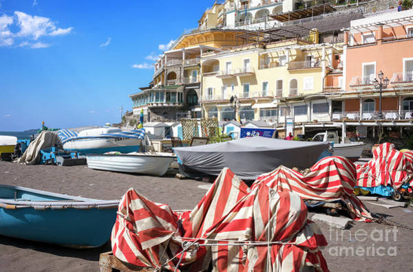 Photograph - Beach Day At Positano by John Rizzuto