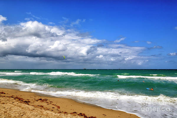Photograph - Beach Day In Fort Lauderdale by John Rizzuto