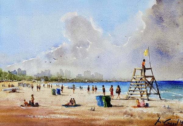Redwood City Wall Art - Painting - Beach Day by Max Good