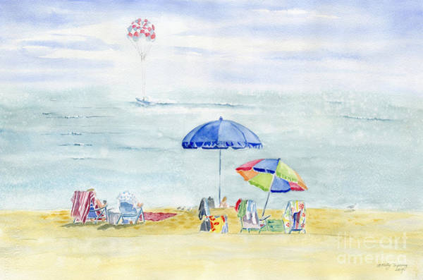 Wall Art - Painting - Beach Day  by Melly Terpening