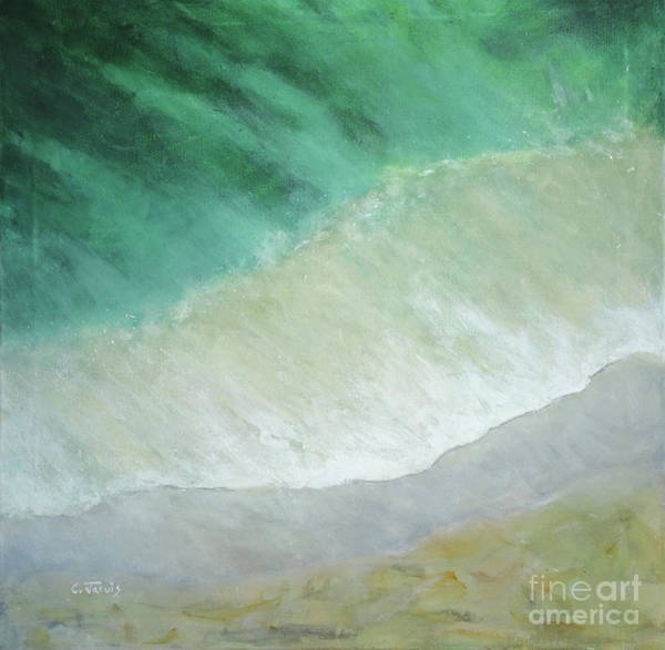 Painting - Beach From Above by Carolyn Jarvis