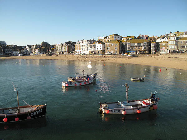 Ives Photograph - Beach Front, St Ives, Cornwall by Thepurpledoor