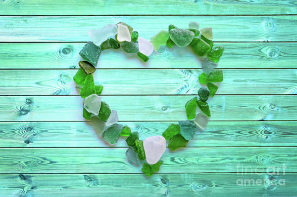 Wall Art - Photograph - Beach Glass Heart by Delphimages Photo Creations