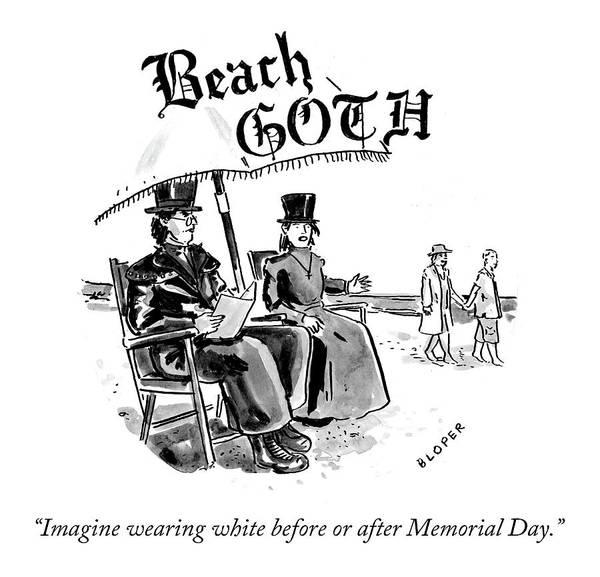 Drawing - Beach Goth by Brendan Loper