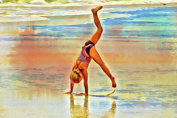 Photograph - Beach Gymnastics by Alice Gipson