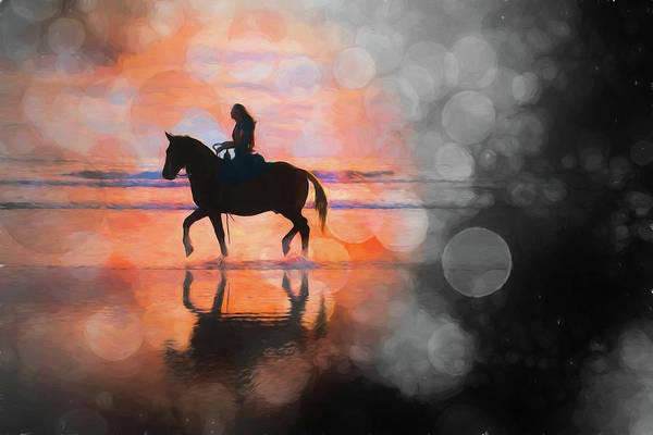 Photograph - Beach Horse Bokehs by Alice Gipson