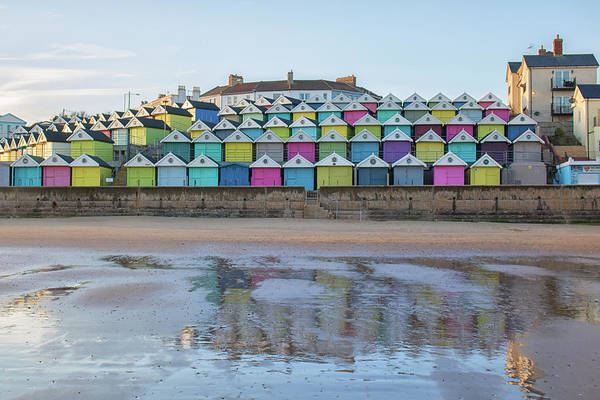 Wall Art - Photograph - Beach Hut Reflections by Martin Newman
