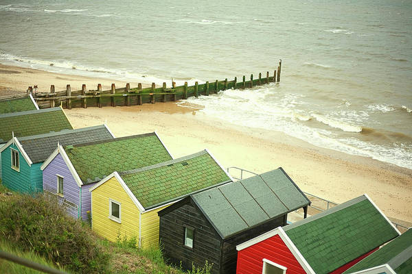 Beach Hut Photograph - Beach Huts By The Sea, Southwold by Seb Oliver