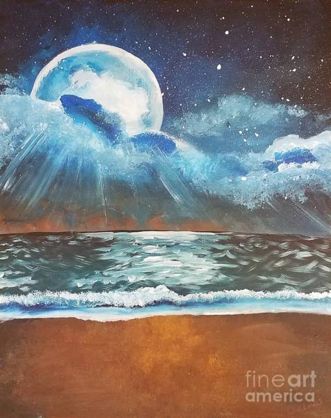 Painting - Beach Moon  by Jennah Lenae