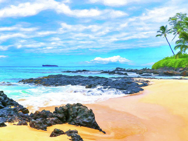 Painting - Beach Near Wailea Maui by Dominic Piperata