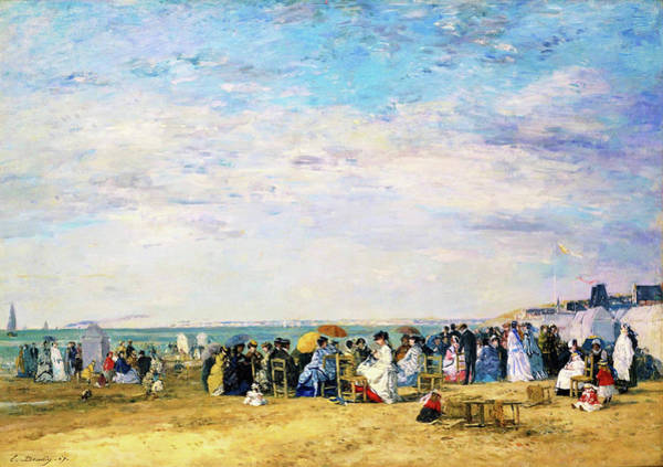 Wall Art - Painting - Beach Of Trouville - Digital Remastered Edition by Eugene Louis Boudin