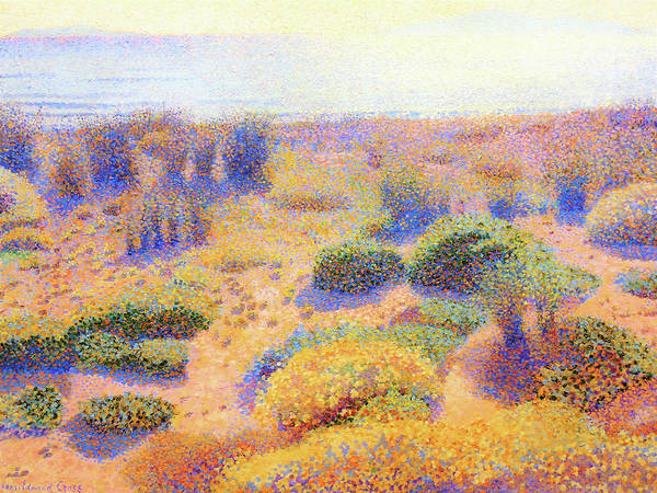 Wall Art - Painting - Beach Of Vignasse - Digital Remastered Edition by Henri Edmond Cross
