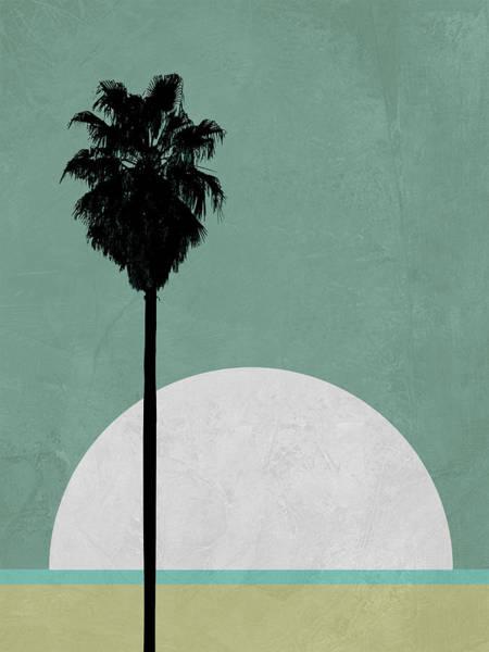 Earth Day Wall Art - Mixed Media - Beach Palm Tree by Naxart Studio