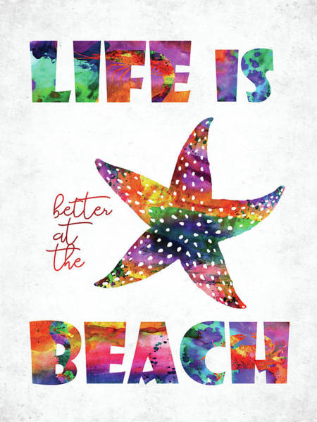 Fun House Digital Art - Beach Quote by Mihaela Pater