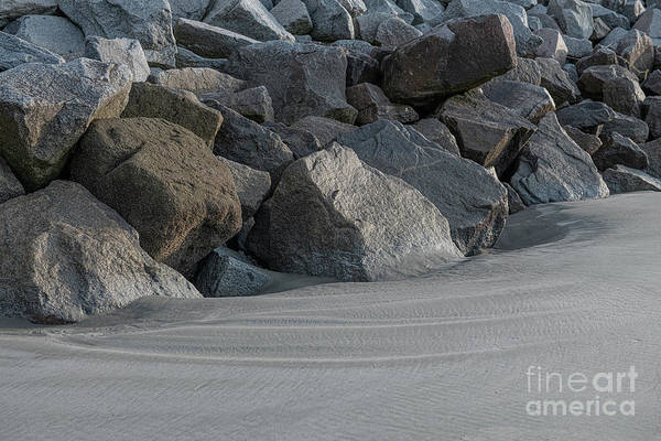 Photograph - Beach Rocks - Stop The Erosion by Dale Powell