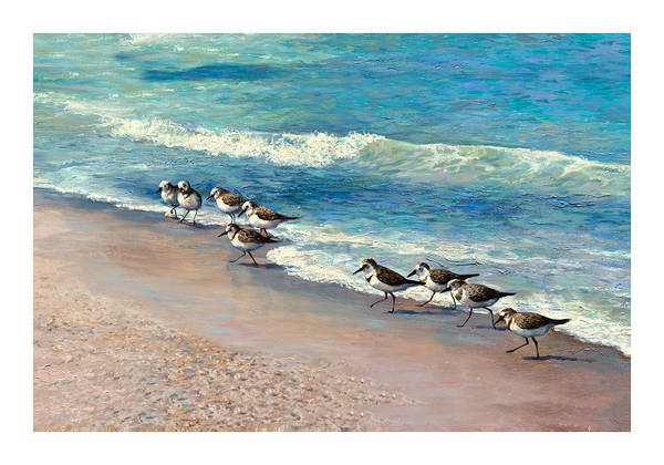 Wall Art - Painting - Beach Runners by Laurie Snow Hein