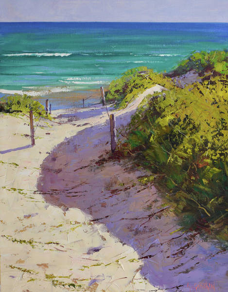 Wall Art - Painting - Beach Sand Dunes by Graham Gercken