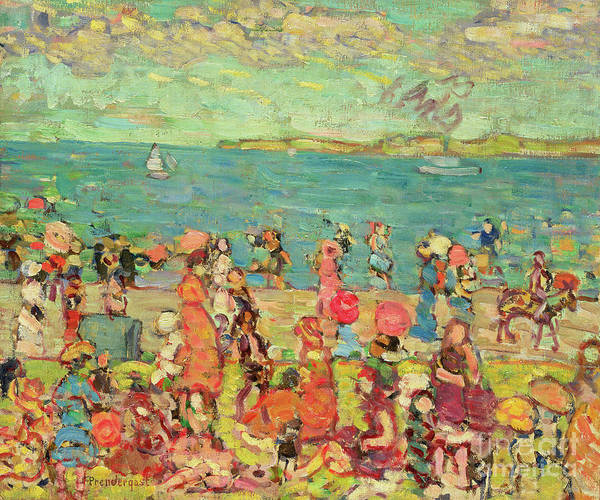 Wall Art - Painting - Beach Scene by Maurice Brazil Prendergast