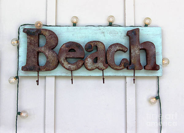 Photograph - Beach Sign by Karen Adams