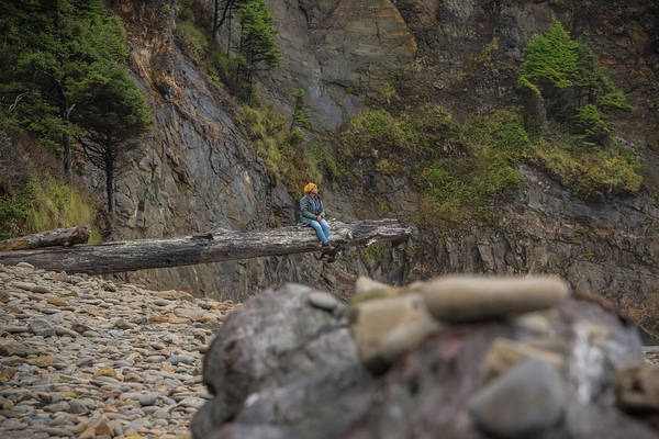 Photograph - Beach Sitter by Kristopher Schoenleber
