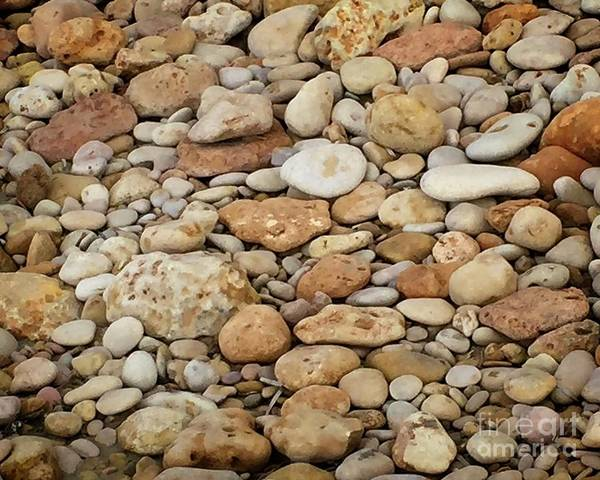 Digital Art - Beach Stones Binigaus by Dee Flouton