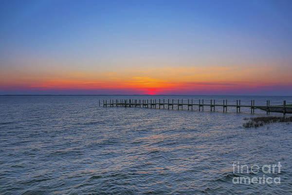 Wall Art - Digital Art - Beach Sunset Outer Banks Five by Randy Steele