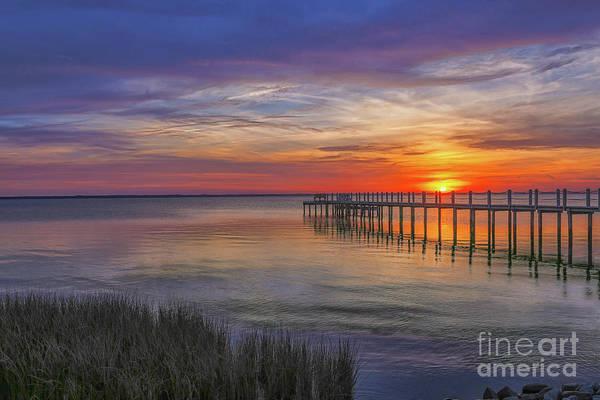 Wall Art - Digital Art - Beach Sunset Outer Banks Four by Randy Steele